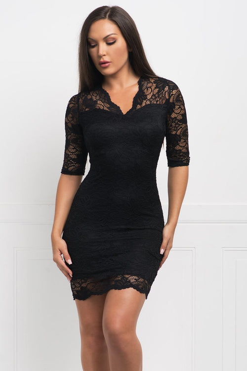 Roselyn Lace Dress - Black