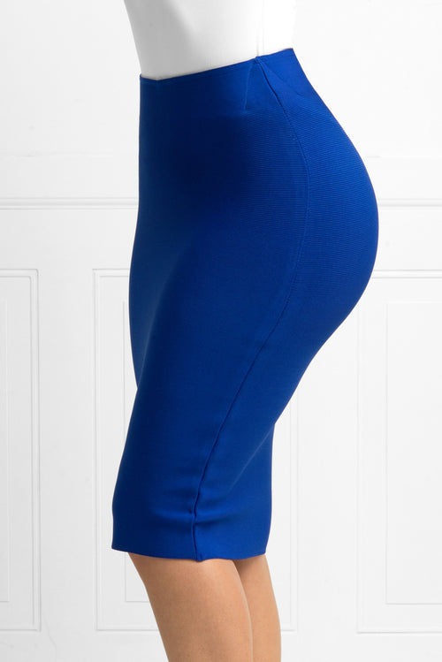 Rachel Royal Blue Bandage Skirt - Fashion Effect Store  - 3