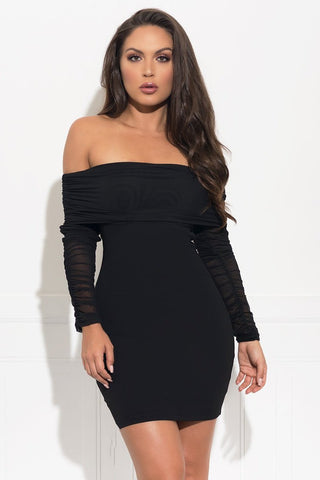 Gracie Midi Dress - Black