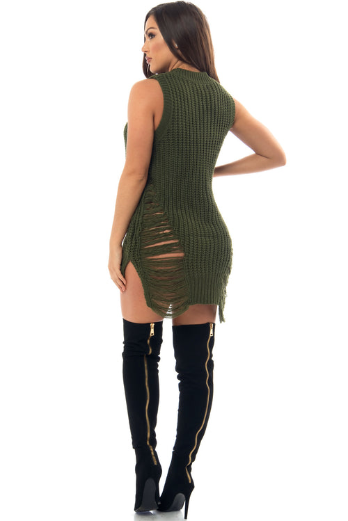 Kenzie Olive Green Dress - Fashion Effect Store  - 2