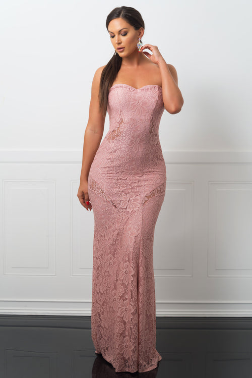 Camille Dress Dusty Rose