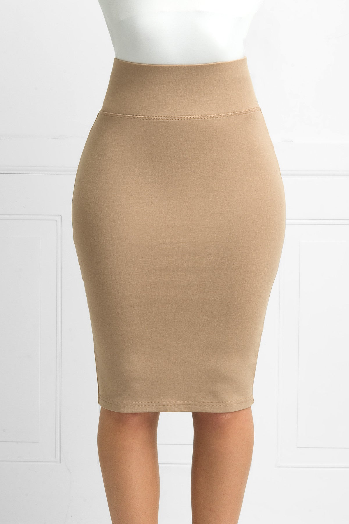 Andy Pencil Skirt Taupe - Fashion Effect Store  - 4