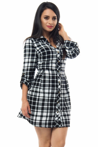 Meli Plaid Dress - Fashion Effect Store  - 1