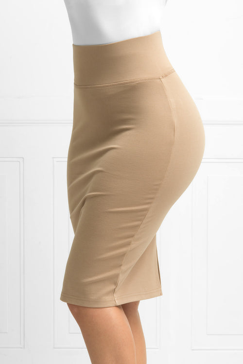 Andy Pencil Skirt Taupe - Fashion Effect Store  - 2