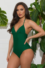 Salty River One Piece Swimsuit Green