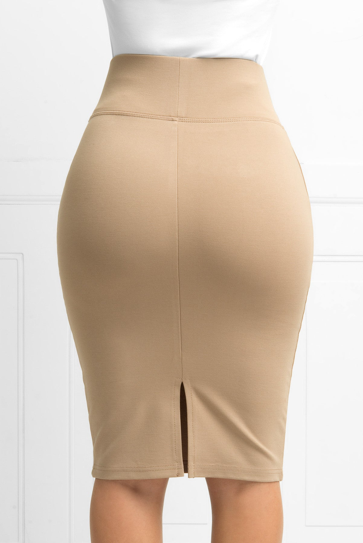 Andy Pencil Skirt Taupe - Fashion Effect Store  - 3