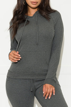 Keep It Going Sweater Charcoal Grey