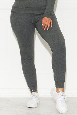 Set You On Track Jogger Charcoal Grey