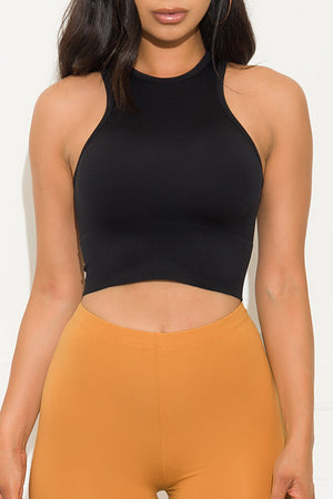 Now You Know Crop Top Black