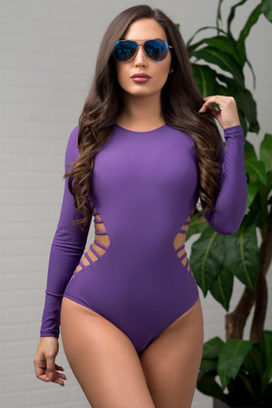Hot Water Beach One Piece Swimsuit Purple