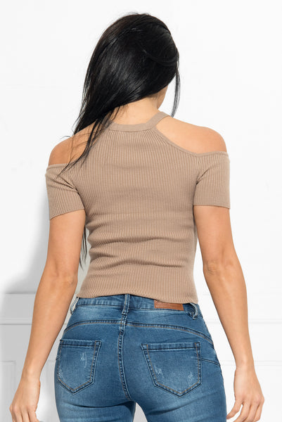 Maddie Top Taupe