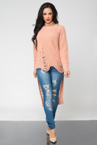 Take A Moment Blush Sweater - Fashion Effect Store  - 1