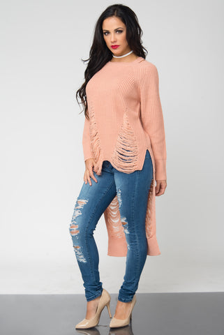 Take A Moment Blush Sweater - Fashion Effect Store  - 2