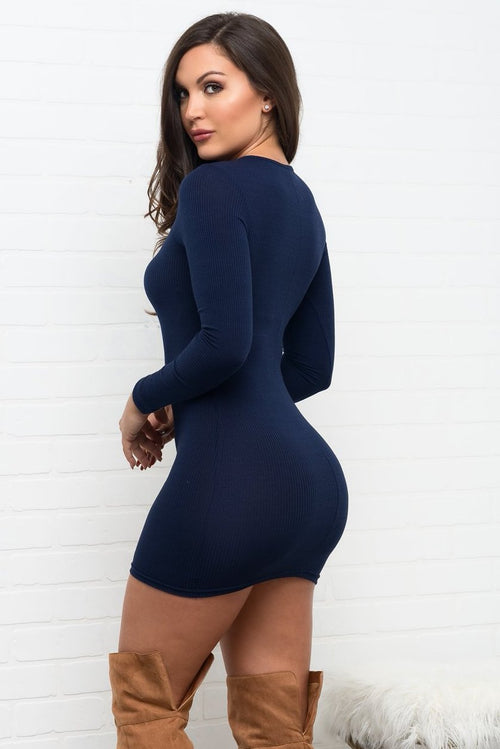 Jadelyn Dress  - Navy