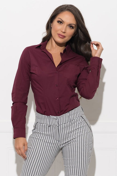 Yazz Blouse - Burgundy