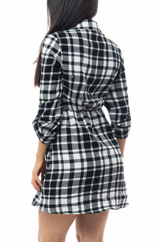 Meli Plaid Dress - Fashion Effect Store  - 2