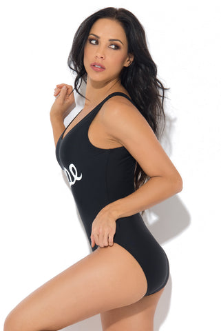 Dope One Piece Swimsuit BLACK - Fashion Effect Store  - 2