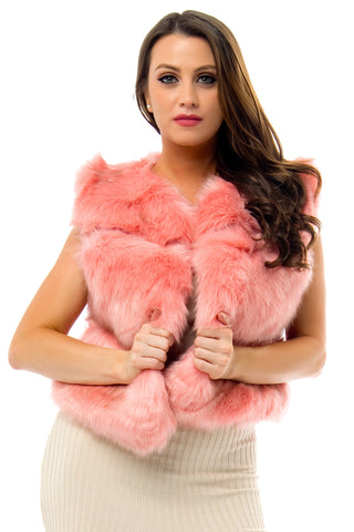 Vivian Faux Vest Pink - Fashion Effect Store  - 1