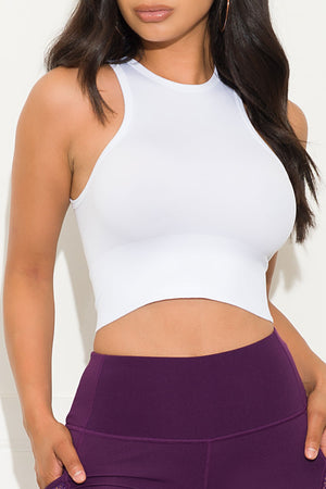 Now You Know Crop Top White