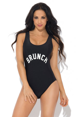 Brunch One Piece Swimsuit BLACK - Fashion Effect Store  - 1