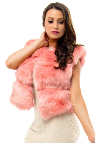 Vivian Faux Vest Pink - Fashion Effect Store  - 2