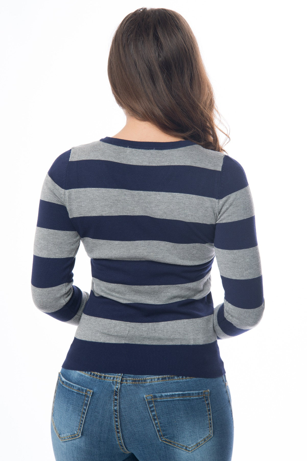 Cameron Striped Sweater Blue - Fashion Effect Store  - 2