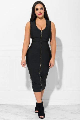 Gianna Bandage Dress BLACK - Fashion Effect Store  - 1