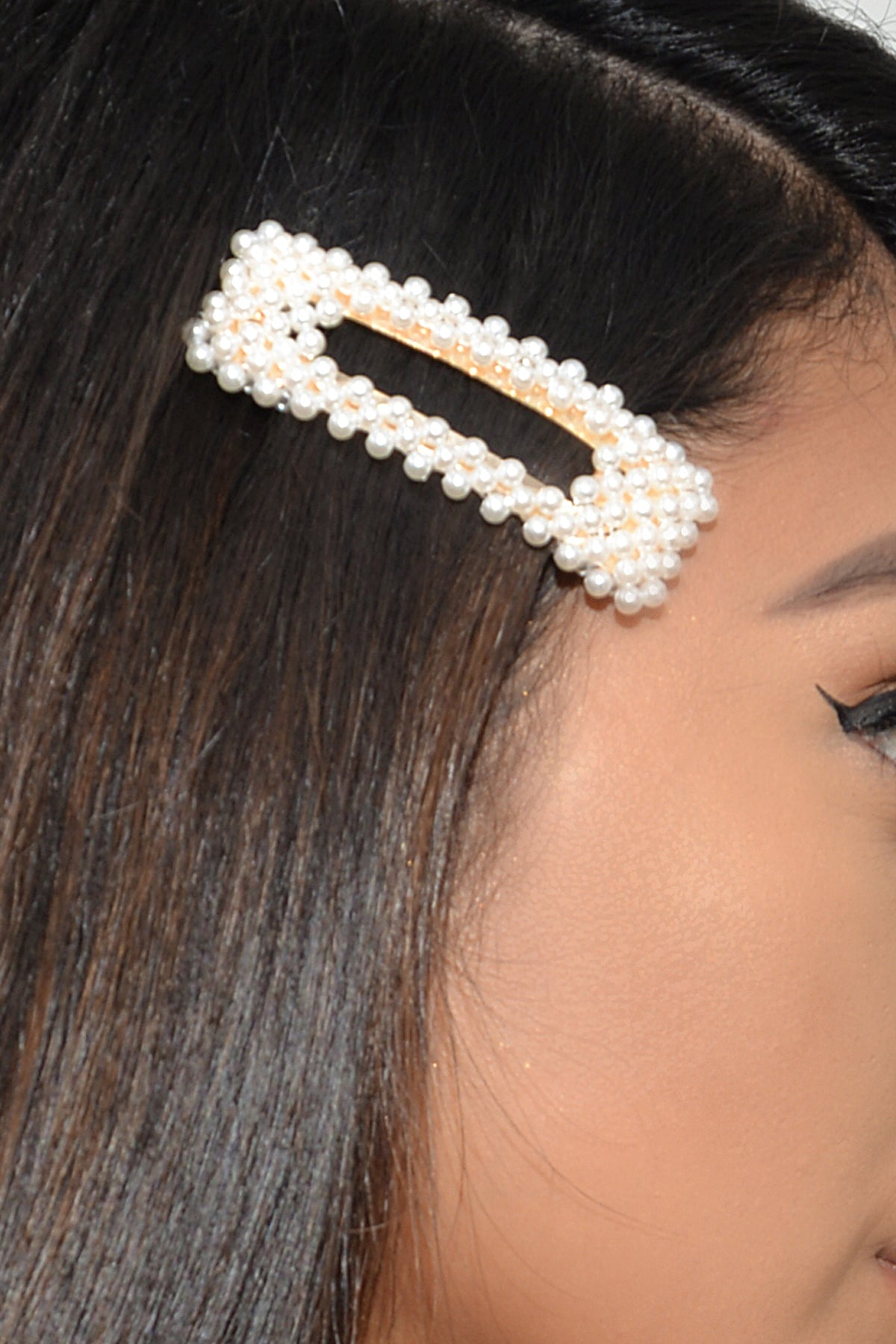 Hair Clip/Barrette Pearly set