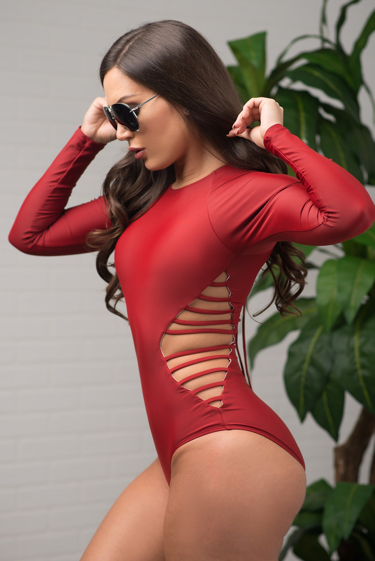 Hot Water Beach One Piece Swimsuit - Burgundy