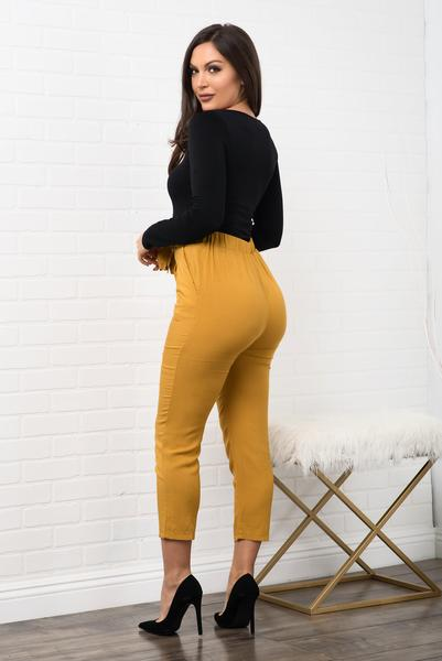 Lucy Pants - Mustard