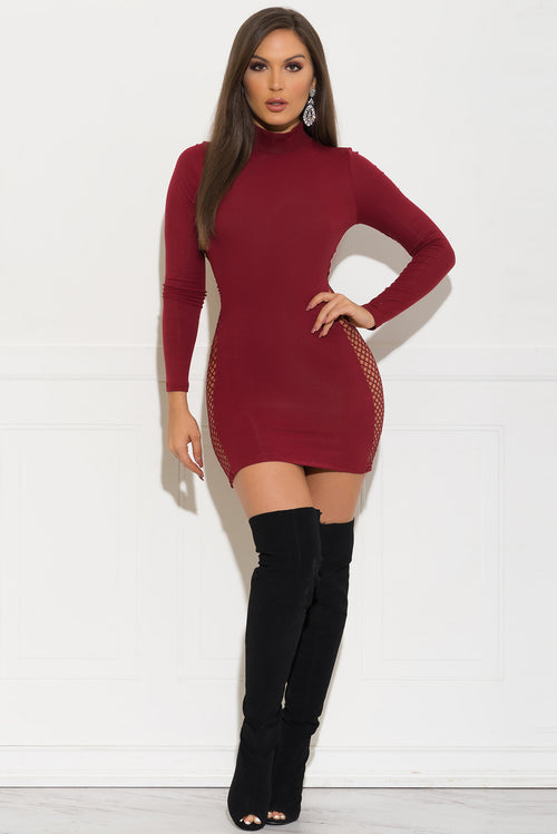 Grace Dress -Dark Burgundy
