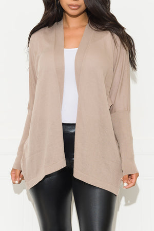 Looking For You Cardigan Sweater Taupe