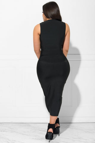 Gianna Bandage Dress BLACK - Fashion Effect Store  - 3