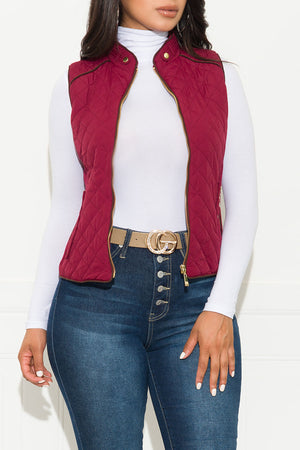 Wild Night Out Vest Burgundy