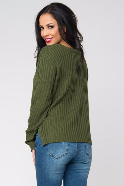 Getting Warm Olive Sweater - Fashion Effect Store  - 2