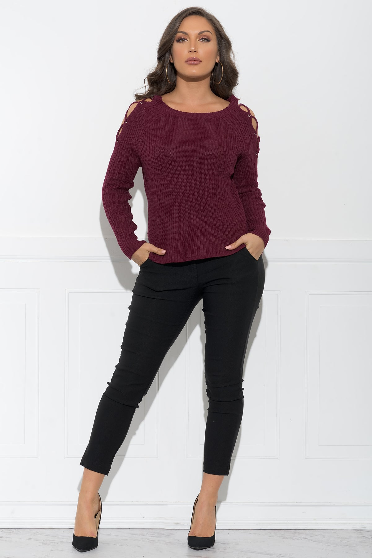 Brandy Sweater - Burgundy