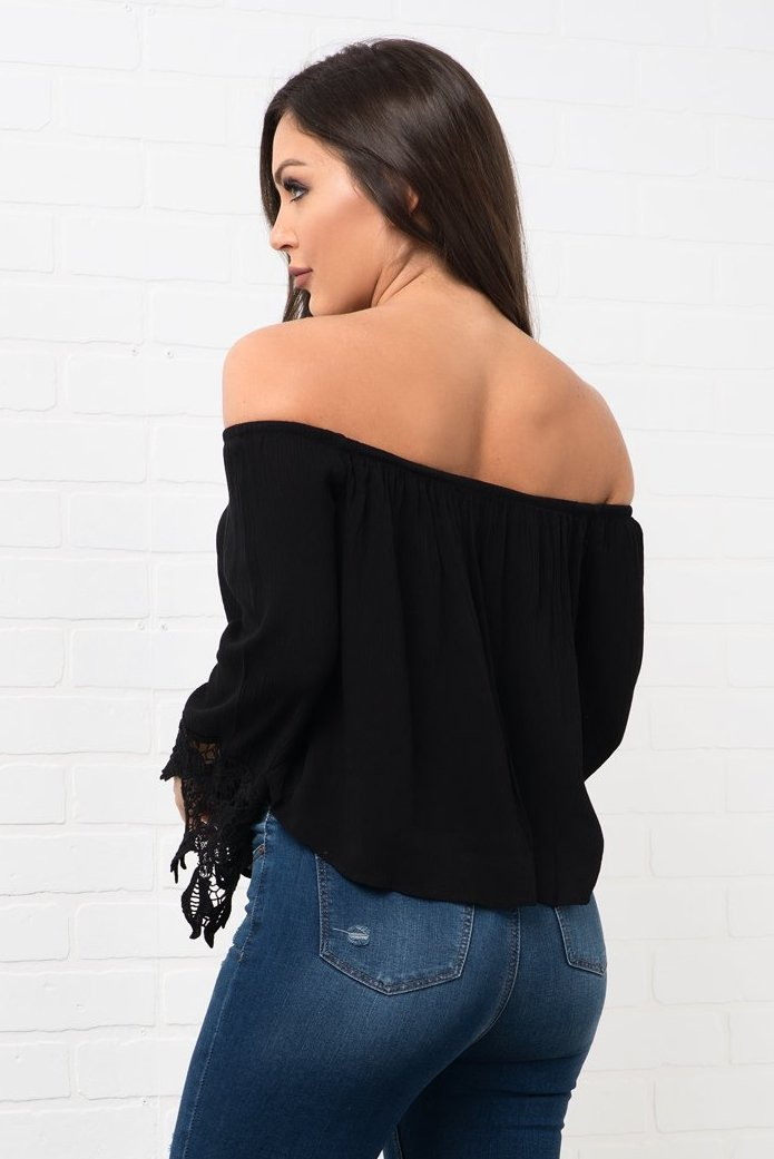 Jhene  Top - Black