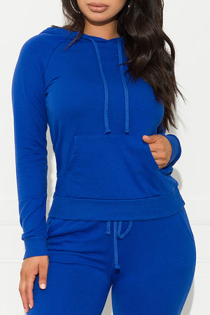 Keep It Going  Sweater Royal Blue