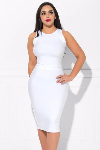 Yvette Bandage Dress WHITE - Fashion Effect Store  - 1