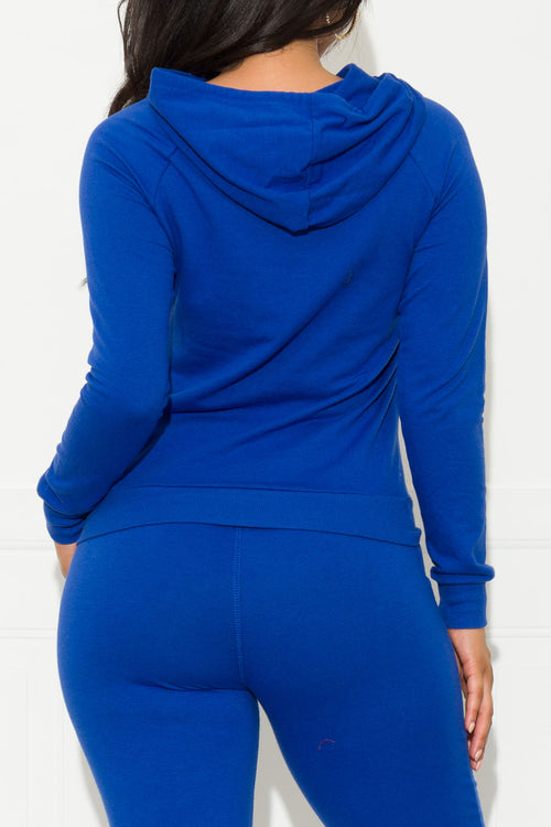 Set You On Track Sweater Royal Blue