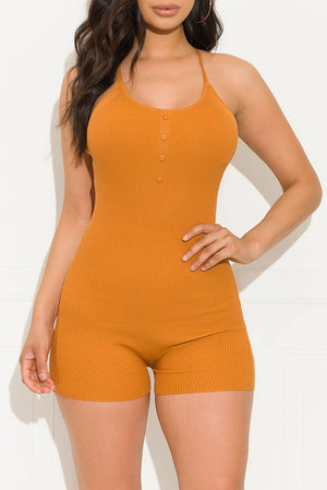 All About Me Romper Rust