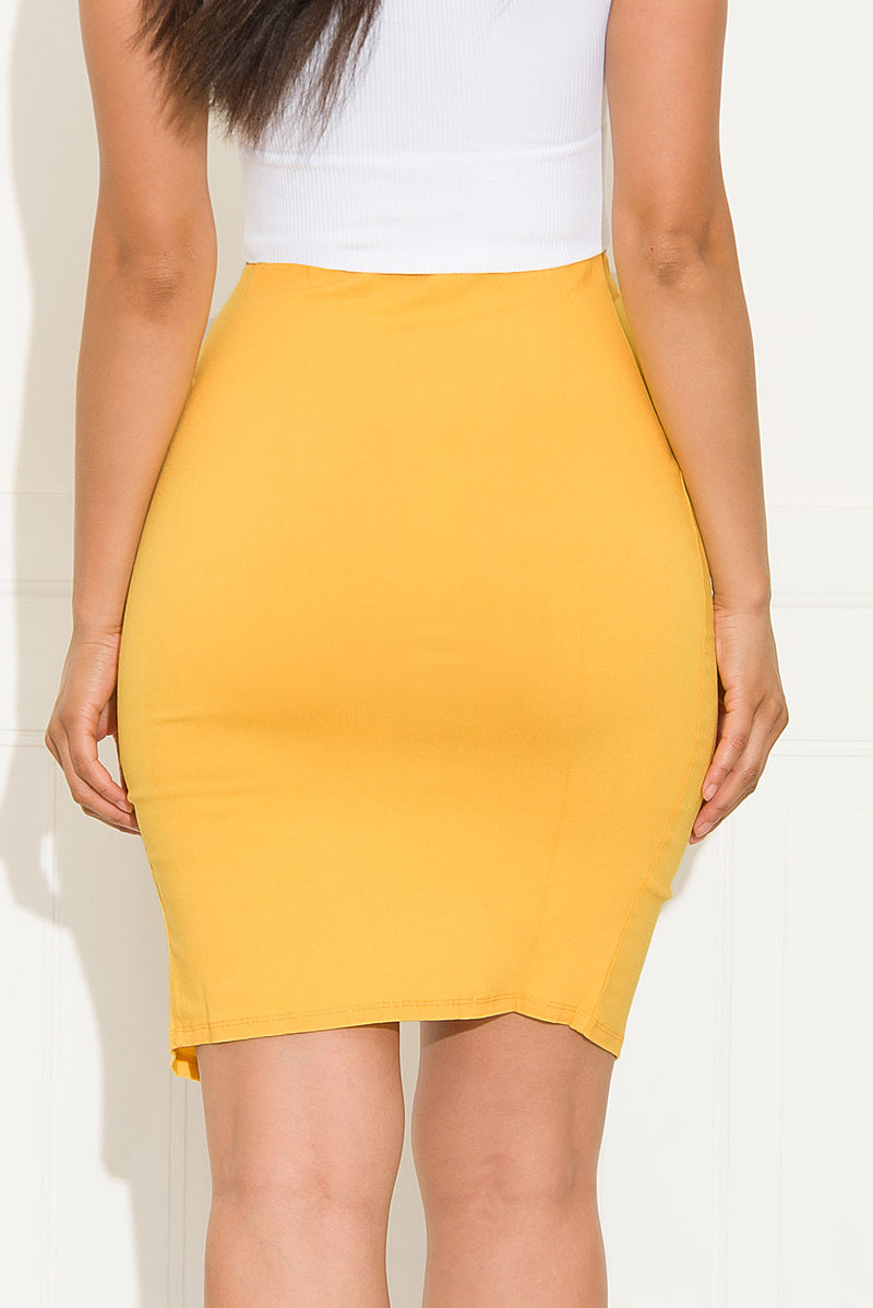 Always Chic Skirt Yellow