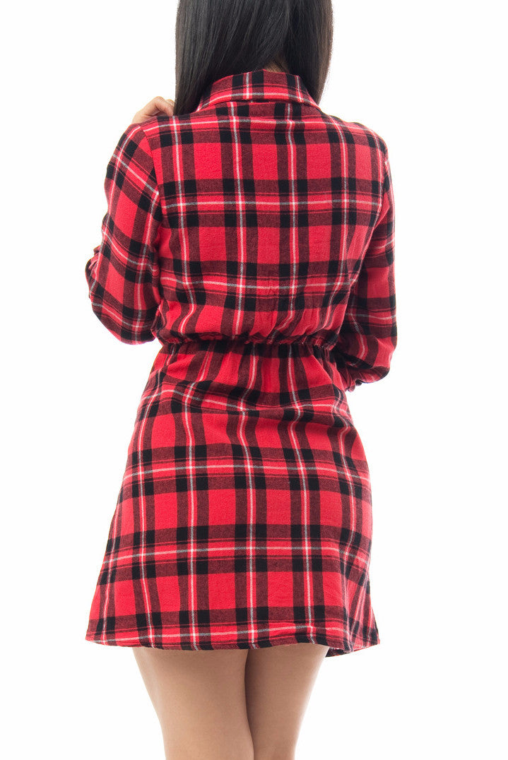 Amanda Plaid Dress - Fashion Effect Store  - 2