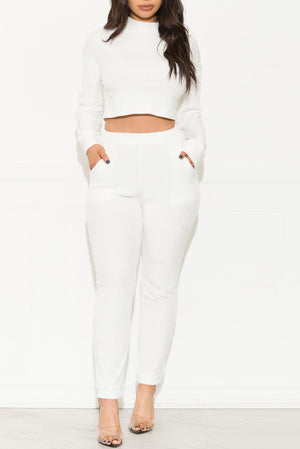 On The Go Two Piece Set White