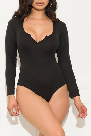 Missed Your Chance Bodysuit Black