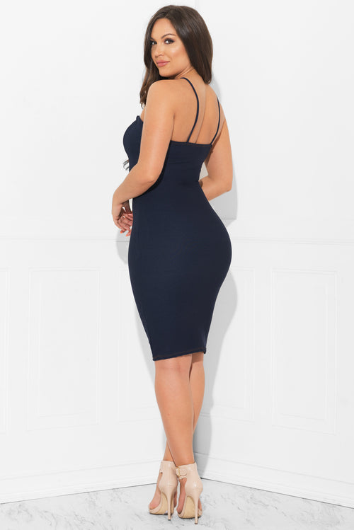 Kourt Dress Faux Denim