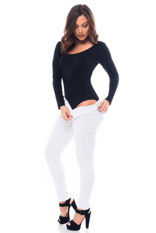 Hanna Black Bodysuit - Fashion Effect Store  - 1