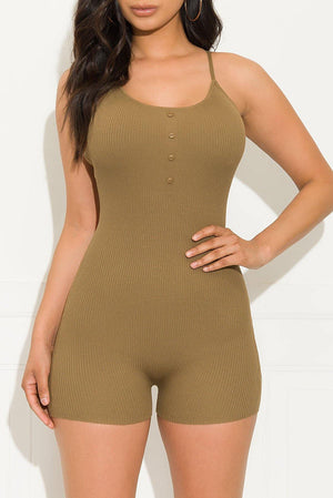 All About Me Romper Olive