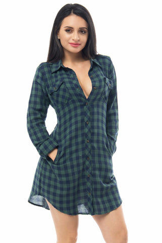 Lissa Plaid Dress - Fashion Effect Store  - 1