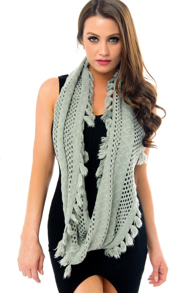 Bria Grey Scarf - Fashion Effect Store  - 2